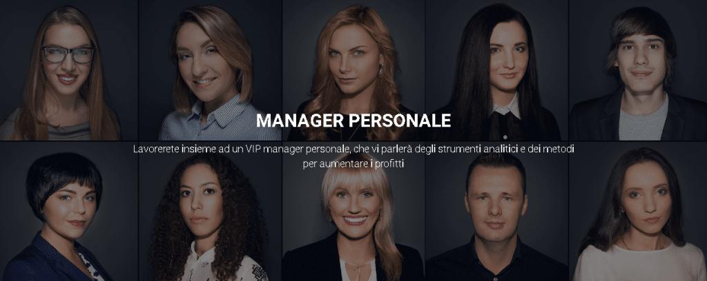 Manager personale con IQ Option