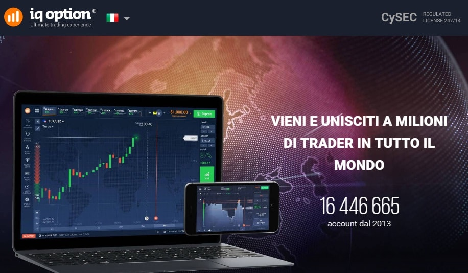 Zero costi con IQ Option