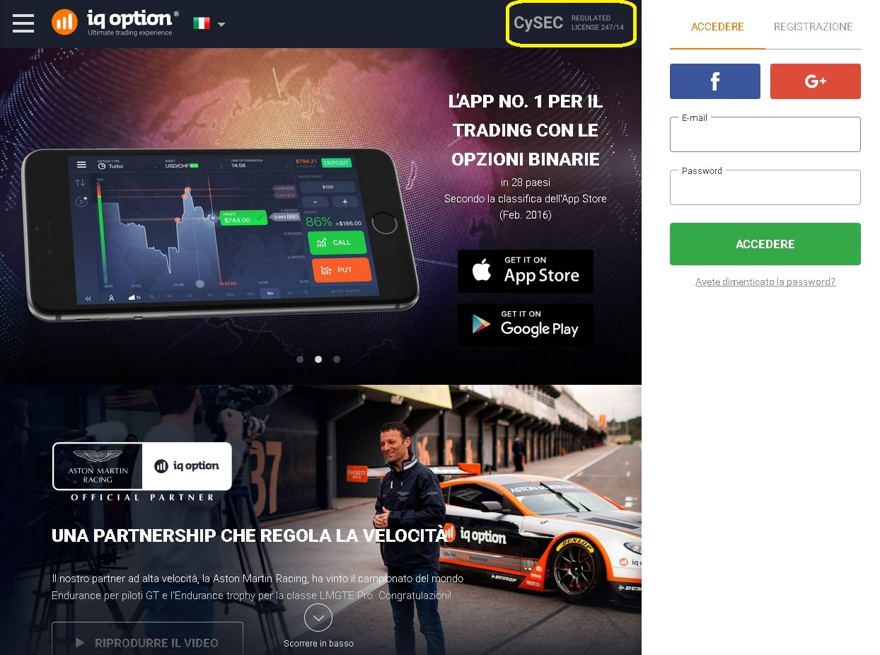 IQ Option CySEC